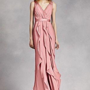 V-Neck Wrapped Bodice Dress